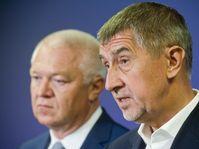 Jaroslav Faltýnek, Andrej Babiš, photo: CTK