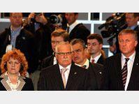 Vlasta Parkanová, Václav Klaus, Karel Schwarzenberg, Mirek Topolánek, photo: CTK