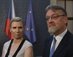 Kateřina Valachová y Stanislav Štech, foto: ČTK
