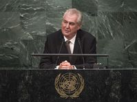 Miloš Zeman à l'ONU, photo: United Nations Photo, licence Creative Commons Atribution-NonCommecial-NoDerivs 2.0 Generic