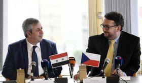 Maamoun Abdulkarim, Michal Lukeš, photo: CTK
