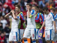 La selección checa después del partido, foto: ČTK