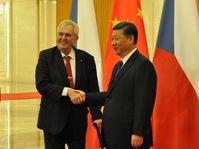Miloš Zeman et Xi Jinping, photo: ČTK