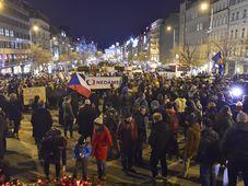 Protestkundgebung auf dem Prager Wenzelsplatz (Foto: ČTK)