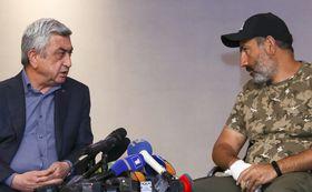 Серж Саргсян и Никол Пашинян, фото: ЧТК