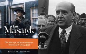 Плакат фильма о Яне Масарике, справа Ян Масарик, Фото: коллаж «Радио Прага»