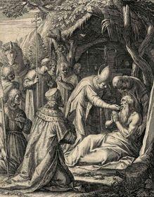 Svatý Vintíř jako poustevník