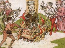 Jan Hus' burning at the stake
