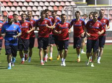 L'équipe de République tchèque de football affrontait la Belgique, lundi soir à Bruxelles, photo: ČTK