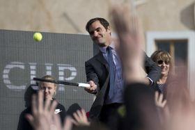 Roger Federer na Staroměstském náměstí, foto: ČTK