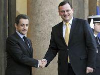 Petr Nečas a été reçu à l'Elysée par Nicolas Sarkozy, photo: CTK