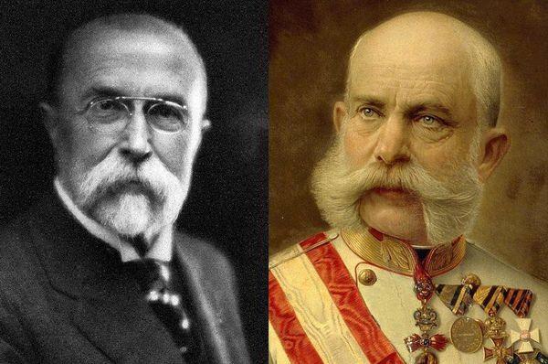 Tomáš Garrigue Masaryk et François-Joseph 1er