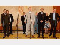 Vojtech Filip, Mirek Topolanek, Miroslav Kalousek et Martin Bursik, photo: CTK