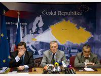 Alexandr Vonra, Mirek Topolánek, Karel Schwarzenberg, photo: CTK