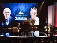 Le premier débat de l'entre-deux-tours entre Jiří Drahoš et Miloš Zeman, photo: ČTK