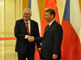 Miloš Zeman, Xi Jinping, photo: CTK