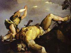 Cuadro de Tiziano 'David y  Goliat' (1540)