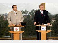 Jiri Paroubek et Mirek Topolanek, photo: CTK