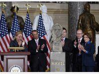 Le buste de Václav Havel a été inauguré au siège du Congrès américain, photo: ČTK