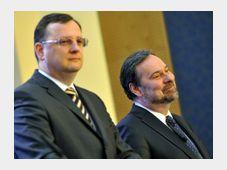 Petr Nečas (vlevo) a Radek John, foto: ČTK