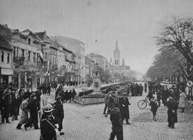La ville de Mukachevo en 1938, photo: Ladislav Lappa