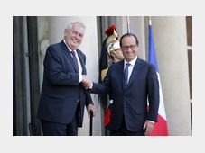 Miloš Zeman, Francois Hollande, photo: CTK