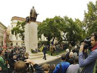 Inauguration officielle de la statue de Woodrow Wilson, photo: CTK
