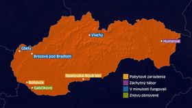 Flüchtlingslager in der Slowakei (Quelle: Archiv TVNoviny)