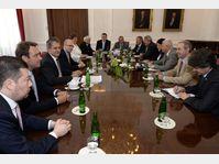 La réunion avec les partis de l'opposition, photo: ČTK