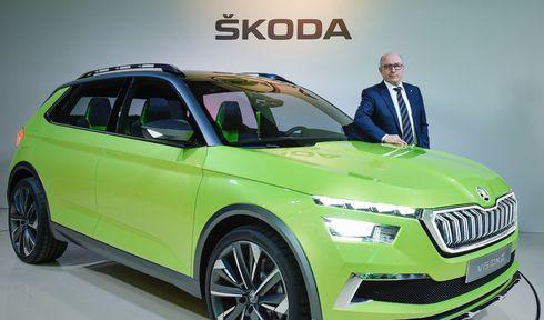Bernhard Maier with Škoda Vision X, photo: CTK