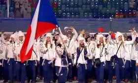 Einmarsch bei den Spielen in Sotschi (Foto: Tschechisches Fernsehen)