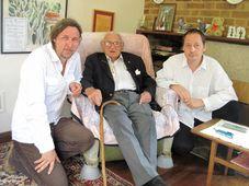 Roman Vávra, Nicholas Winton a Jiří František Potužník, foto: ČT