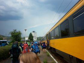 Na festival vEibentálu vyjel zČeska půl kilometru dlouhý vlak, foto: Zdeňka Kuchyňová