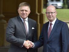 Robert Fico et Bohuslav Sobotka, photo: ČTK