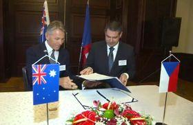Wirtschaftsministerium hat ein Memorandum mit dem australischen Unternehmen EMH unterschrieben (Foto: Tschechisches Fernsehen)