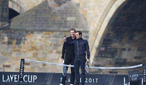 Tomáš Berdych und Roger Federer (Foto: ČTK)