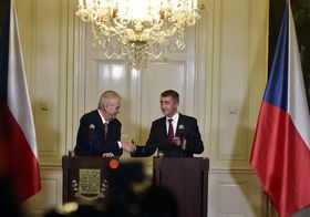Miloš Zeman, Andrej Babiš, photo: CTK