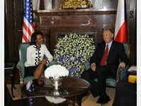 Condoleezza Rice et Mirek Topolánek, photo: CTK