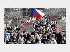 Students protest in Hradec Králové, photo: CTK
