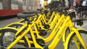 OFO bikes, photo: Czech Television