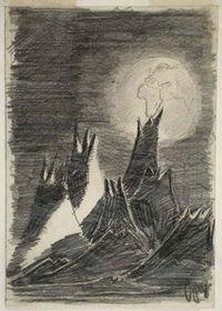 'La Terre vue de la Lune' par Petr Ginz