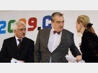 Rangin Dadfar Spanta, Karel Schwarzenberg, Benita Ferrero-Waldner, photo: CTK
