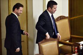 Radek Vondráček et Jan Hamáček, photo: ČTK