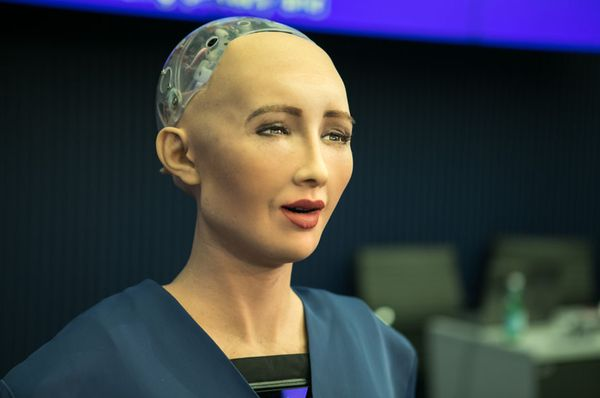 Robot Sophia, photo: ITU Pictures, CC BY 2.0