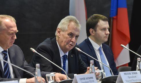 Miloš Zeman en su visita a Rusia, foto: ČTK