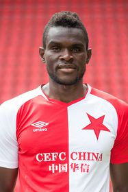 Michael Ngadeu, photo: Site officiel du Slavia Prague