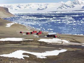 Mendelova základna na ostrově Jamese Rosse, foto: ČTK
