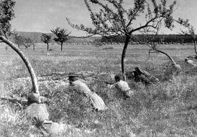 Les soldats de l'Armée rouge à la bataille de Slivice, photo: Site officiel du Musée des mineurs de Příbram