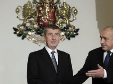 Andrej Babiš et le chef du gouvernement bulgare Boïko Borissov, photo: ČTK