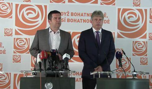 Social Democrat leader Jan Hamáček, deputy chairman Roman Onderka, photo: official Facebook page of ČSSD